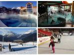 Grande Bains in Monetier, Sledging in Puy, Briancon Pool and Ice Skating Rink
