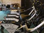 le bici elettriche a servizio del B&B