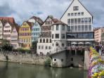 Tübinger Neckarfront / Neckar river in Tübingen