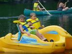 peddal boat fun