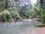 Irie River - Picnic area, swimming in shallow river, food and drinks.