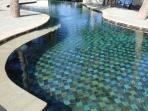 Steps into Pool - Shallow and Deep End