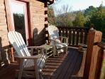 Kick back with a cigar or glass of wine on the back deck
