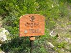 Hike the mountain trail that starts behind Casa Corridor