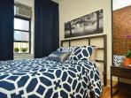 Bedroom 2 Metal bedframe - full size Full length mirror