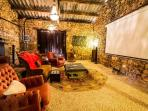 an indoor cinema with lots of movies to choose from including 3D