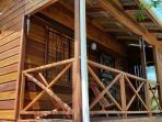 Baby Blue Cabana Covered Veranda