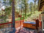 Hot tub at end of deck