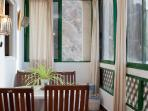 La Maresia dining room with sea views, some local fisherman can take fresh fish for you
