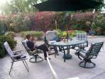 Patio Furniture and 'Happy Guest'