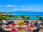 1503 Surfrider - Ocean Front and Panoramic Ocean View Outdoor Covered Veranda with Teak Dining Table for up to 8...