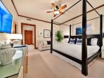 1503 Surfrider - Second Master Bedroom with King Bed, Walk-in Closet, Large Screen HD TV & HD Cable, HD CD/DVD, Carpet...