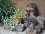 Sculptures on deck
