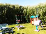 Let your children run loose in our secure play area.