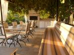 outdoor dining and relaxing area