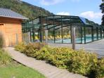 Accès piscine extérieure