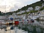 Picture perfect Polperro Harbour - early evening.