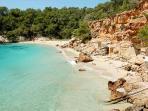 Cala Salada Beach 5 minutes drive away