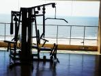 Gym with an amazing view