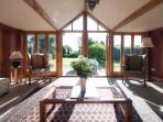 Bright sunny garden room