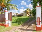 driveway of villa