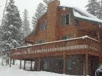 Whispering Pines Cabin Winter time