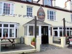 Only two doors away from our property this pub serves excellent food.