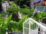 Staircase to Quiet Spacious Attic Apartment