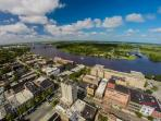 a bird's eye view of downtown Wilmington