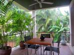Tropical Garden Outdoor Dining Area