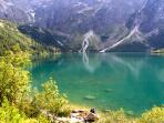 The famous Morskie Oko, one of the most beautiful lakes in Europe.