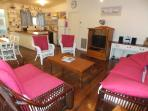 Beachwalk Cottage Family Room with Kitchen & Dining.