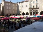 Villefranche - one of many local markets to visit