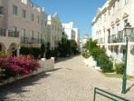Main street of Old Village opposite Solar do Golfe