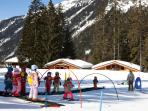 Ski School for children close by