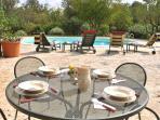 Sun patio and pool