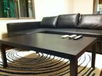 Large and comfortable Sofa open into very comfortable DOUBLE bed. Plus big coffee table.