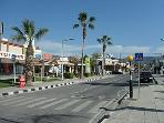 Coral Bay Strip with an array of bars, restaurants & shops