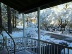 View from front of Cabin after a snow storm