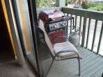 Unit Two Grill on Balcony