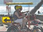 Bike Rentals are at the pier