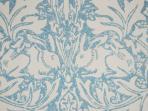 William Morris wallpaper in the bedroom