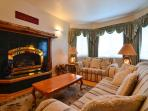 Another picture of the family room with the gas fireplace