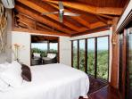 Main Bedroom with ocean and mountain views