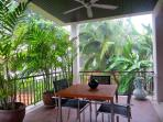 Shaded Tropical Outdoor Dining Area