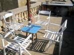 Roof dining (served by pulley from kitchen)