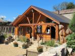 Visit the Garlic Farm shop onsite with restaurant and discounts for guests