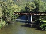 The River Aude runs through Cavirac just below the house