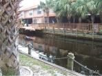 Canal located behind condo