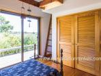 Guest Bedroom Opens to Side Deck and Views Across Menemsha Pond